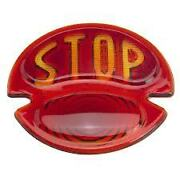 Stop Glass Tail Light Lens 1928-1931 Model A Real Glass With S.t.o.p. On It