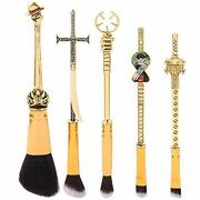 One Piece Anime Makeup Brushes Set - Professional Antique Gold Luffy Cosplay