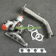 K04 Turbo Billet Upgraded + Exhaust Down Pipe For Audi A5 Q5 S5 2.0tfs Cdnc 6+6