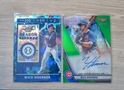 🔥nico Hoerner Sp 2pc Set 2019 Bowman Best Auto Panini Contenders Cracked Ice