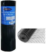 Mtb Black Pvc Coated Welded Wire Mesh Garden Economy Fence 36 Inch X 25 Foot-...