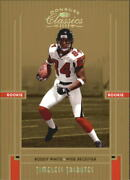 2005 Donruss Classics Timeless Tributes Gold Falcons Card 212 Roddy White /25