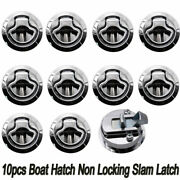 10pcs Marine Boat Stainless Steel 2and039and039 50mm Flush Pull Hatch Lock Slam Latch Lift