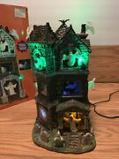 See Video Lemax Spooky Town Sights And Sounds Ghostly Manor 65122 Retired