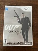 007 James Bond Quantum Of Solace Wii Game Brand New Sealed