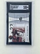 2003 Flair Final Edition Lebron James Hot Numbers Sgc 10 Rookie /500 Rare