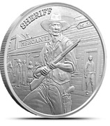 Prospector Sheriff Prospector Series 1 Troy Ounce .999 Silver Round In Stock