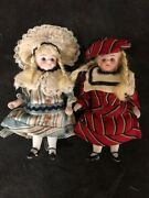 Two Miniature 4 Antique French Dolls Marked 31-10 Collectibles