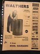 Walthers 1960 O Gauge Reference Manual And Catalog 1960, Paperback, Illus.