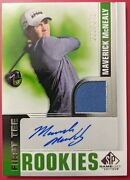 2021 Ud Sp Game Used Golf Maverick Mcnealy First Tee Rookies Auto Relic /499