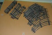 Lot Of 28 Used Sections Of Lionel 0-27 Track 9 Straight 19 Curved.