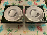Lenox French Carved Flower 4-piece Place Setting Two Boxes 8 Pieces Total