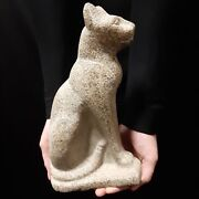 Pharaonic Egyptian Antique Antiques Egypt Antiquities Figurine Cat Statue -w242