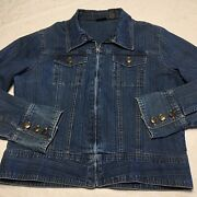 Ladies Baileys Point Pre-owned Blue Denim Jacket Hand Size Large