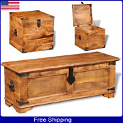 Storage Chest Trunk Wood Bedroom Large Box Books Shoes Toys Home Decor Vintage