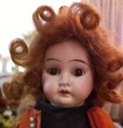 New 13 Cuno Otto And Dressel Doll In Antique Ensemble Mohair Wig Umbrella9