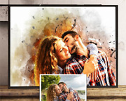Personalised Art For Couple/ Husband/ Wife/ Partner, Perfect Print Birthday Gift