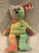 Peace Beanie Baby And03996 - Rare Tag Errors. Pristine Condition.andnbsp Collectors Item