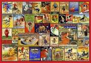Wentworth Wooden Jigsaw Puzzle - Vintage Bicyle Posters 250 Pieces