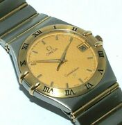 Gents/mens Omega And039constellationand039 18ct Gold And Stainless Steel Wristwatch
