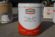 Vintage Texaco Motor Oil 5 Gallon Regal Tin Can Metal Ad Advertisement Cans Sign