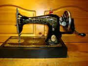 Antique Singer Sewing Machine Model 15 And039gingerbreadand039 Hand Crankserviced