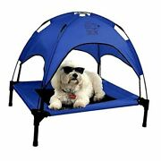 Just Chillinand039 Elevated Dog Bed. Medium And Large Size Dog Cots In Medium Blue