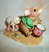 Enesco Mouse Tales I'll Play My Drum For Him Figurine