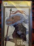 Five Ghost Special 1 Cgc 9.8 Ss Signed By Jamie Jones And Frank Barbiere
