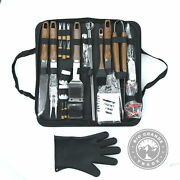 New Romanticist Complete Barbecue Tool Set With Oxford Storage Case - 26 Piece
