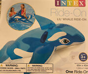 Intex Lil Whale Ride-on Inflatable Float Sun Fun New