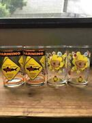 E.t. And Jaws Illustration Glass Set Of 4 Universal Studios Japan Collection