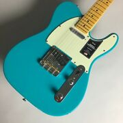 Fender American Professional Ii Telecaster Maple Miami Blue Guitar From Xhi199