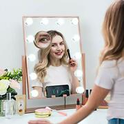 Large Hollywood Vanity Makeup Mirror With Wireless Charger Lighted Makeup