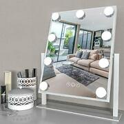 Lighted Vanity Mirror - Hollywood Style Makeup Vanity Mirror With Lights White