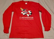 Vintage 80s New Old Stock Pall Mall Filters Cigarette Long Sleeve T Shirt Medium