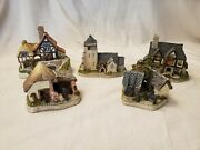 Lot Of 5 David Winter Cottages Guild Collection Hand Painted Houses 1987-1995