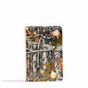 Csb Sportsman's Bible-large Print Compact Mothwing Camouflage Leathertouch