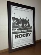 Difficult To Obtain Rocky Framed Oversized Poster Sylvester Stallone Boxing Used