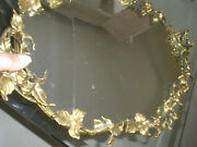 Stunning Rare Huge 25 French Antique Bronze Mirror Plateau Tray Centerpiece