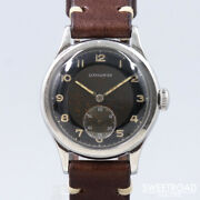 1940s Antique Longines Analog Manual Watch Black Two-tone Dial 31mm Cal.10.68z