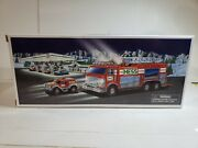 Hess 2005 Emergency Fire Truck With Rescue Vehicle. New In Original Box.