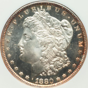 1880-s Morgan Dollar Ngc Ms65 Dpl Nice Cheek Liberty And Eagle In Cameo, Awesome