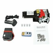 Electric Winch 4500lbs 12v Steel Cable 4wd For Atv Utv Winch Towing Truck