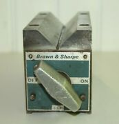 F Brown And Sharpe Magnetic V Block Machinist Tool