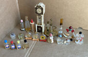 Vintage Perfume Fragrance Bottles Lot Of 20 Glass Collectibles And Stands