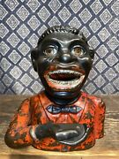 1890andrsquos Antique Mechanical Bank Andldquojolly Nandrdquo By Shepardandrsquos Hardware Co. Orig Paint