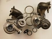 Upgarded Td04-16t 11 Billet Two Twin Turbocharger Bmw 335i 335xi/is 3.0 N54 Lhd