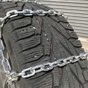 Snow Chains P265/75r15, P265/75 15 Square Tire Chains, W/ Spider Tensioners