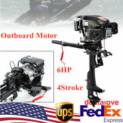 4-stroke 6hp Heavy Duty Outboard Motor 140cc Ce Air Cooling System Usa Seller